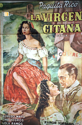 Film poster of La virgen gitana