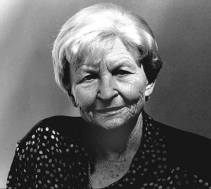 Prof. Dr. Marija Gimbutas at the Frauenmuseum Wiesbaden, Germany 1993 © Monica Boirar
