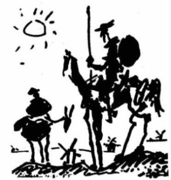 Don Quijote, Museo de Arte e Historia de Saint-Denis en Paris. This  Pablo Picasso's representation of Don Quijote was made to illustrate the magazine Les Lettres Françaises, to celebrate the 350 years of Don Quijote's first edition, in August 1955.