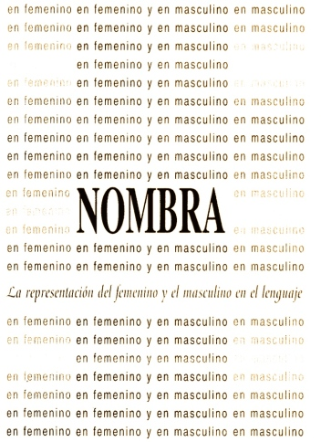 Cover of the document published in 1995, by the The Women Institute's Language Advisory Commission: Nombra.