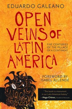 Cover of the Open Veins of Latin America, English version.