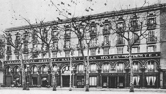 Facada of the Café La Granja Oriente