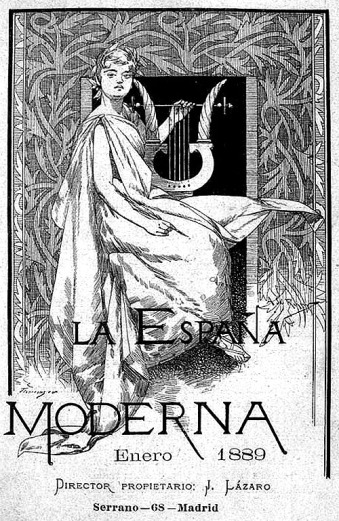 Cover of the publication España Moderna, año II, number 128, Madrid, 1899.