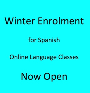 Winter Enrolment for Online Spanish Classes Open Now