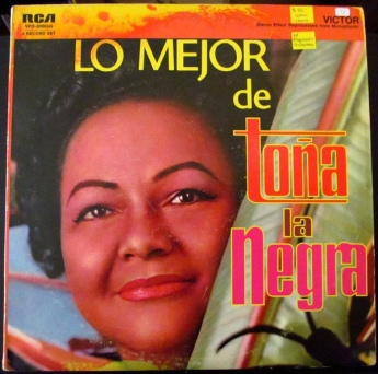 "LP Cover of The best of Toña ""La Negra""."